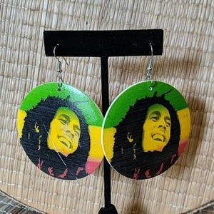 Earrings Bob Marley Disc Large